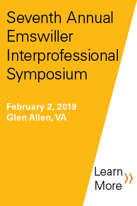 Seventh Annual Emswiller Interprofessional Symposium: Collaborating for the Community: The Role of Interprofessional Practice in Addressing Current Healthcare Issues Banner