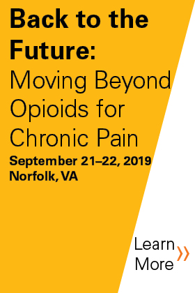 2019 Back to the Future: Moving Beyond Opioids for Chronic Pain Banner