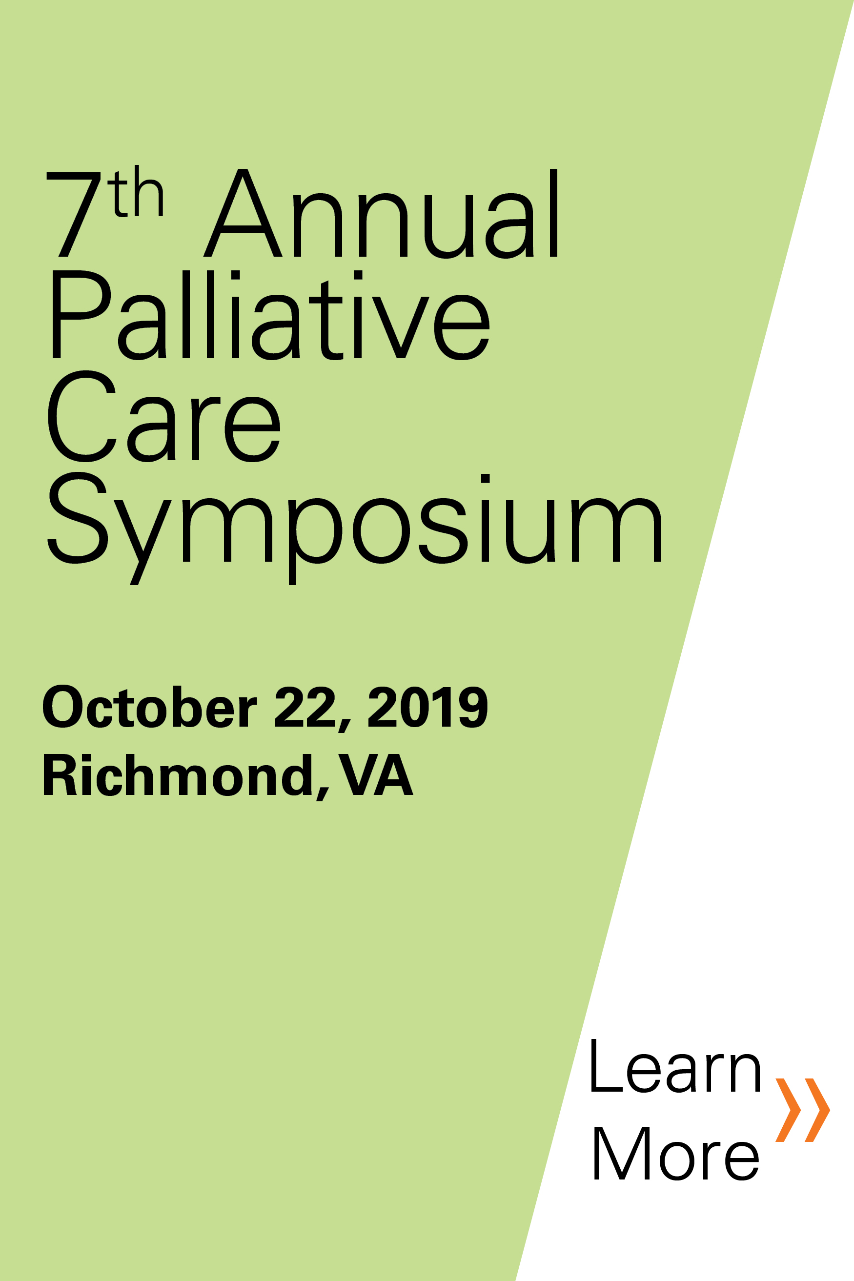 2019 Palliative Care Symposium Banner