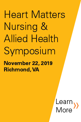 2019 Heart Matters Nursing & Allied Health Symposium Banner