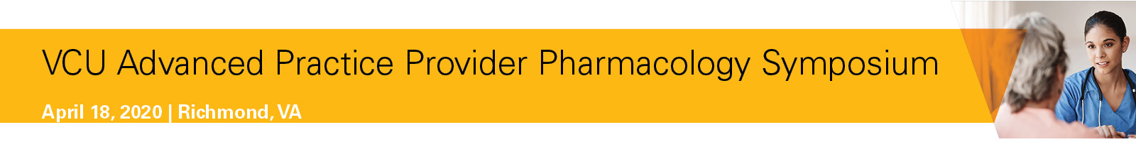 2020 VCU Advanced Practice Provider Pharmacology Symposium Banner