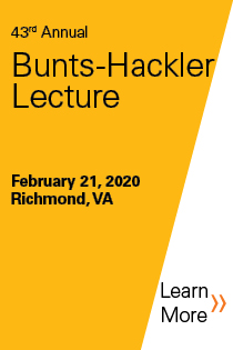 43rd Annual Bunts-Hackler Lecture - 2020 Banner