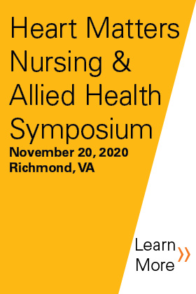 2020 Heart Matters Nursing and Allied Health Symposium Banner