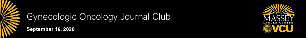 Gynecologic Oncology Journal Club Banner