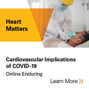 2020 Heart Matters Webinar: Cardiovascular Implications of COVID-19 - Recording Banner