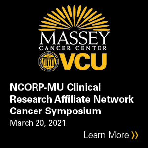 VCU Massey Cancer Center NCORP-MU Clinical Research Affiliate Network Cancer Symposium Banner