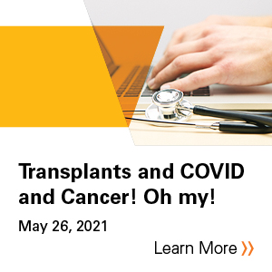 Transplants and Covid and Cancer! Oh my! Banner