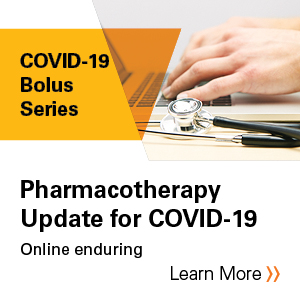 Pharmacotherapy Update for COVID-19 Banner