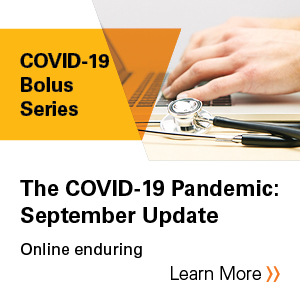The COVID-19 Pandemic: September Update Banner