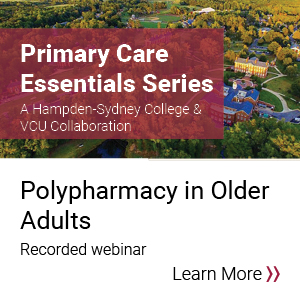 Primary Care Essentials: Polypharmacy in Older Adults Banner