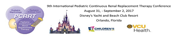 9th International Conference on Pediatric Continuous Renal Replacement Therapy (pCRRT) Banner