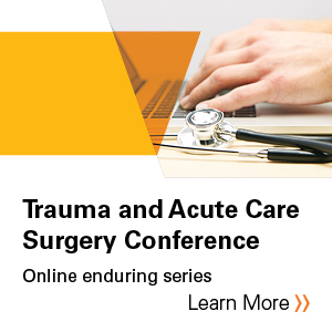 Trauma and Acute Care Surgery Conference- Early Burn Management Banner