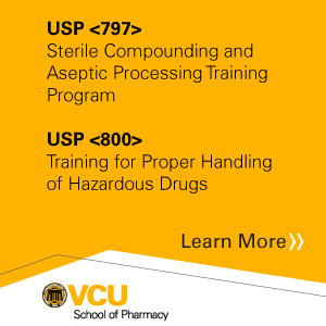 USP <797> Sterile Compounding and Aseptic Processing Training Program and USP <800> Training for Proper Handling of Hazardous Drugs Banner